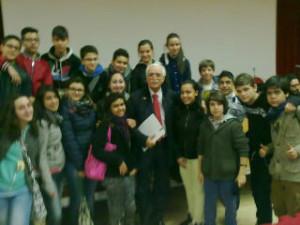 Le classi 3^ della Fermi con il prof.CALABRESE